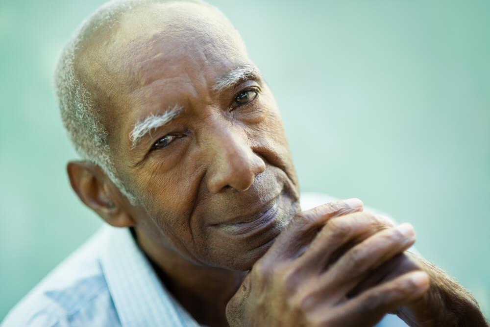 Closeup of older man
